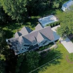 aerial view custom home